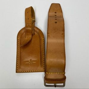 Louis Vuitton Travel Tag and Poignet Leather